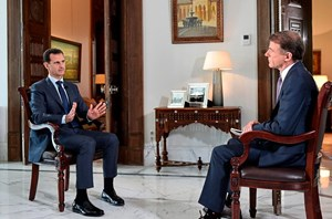 Bashar al-Assad (li.- im Interview mit dem US-TV-Sender NBC.