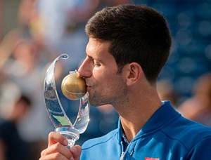 Back on track: Novak Djokovic.