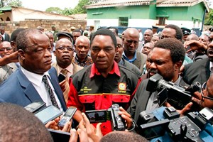 Oppositionsführer Hakainde Hichilema von der United Party for National Development (UPND) ist auch Präsident der Wahlallianz United Democratic Alliance (UDA).