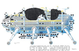 """Walking City"" von Archigram."
