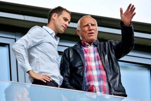 """Head of Global Soccer"" Mintzlaff mit Red-Bull-Boss Dietrich Mateschitz."