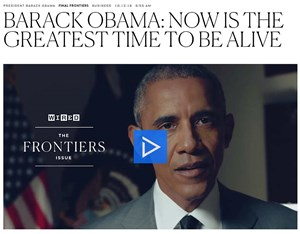 Wired-Video des Gast-Chefredakteurs Barack Obama.