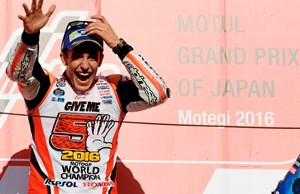 Happy in Japan: Marc Marquez.