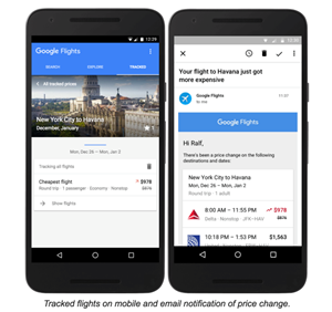 Neue Features für Google Flights