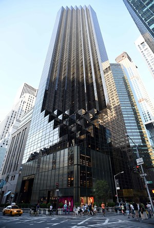 Der Trump Tower in der 5th Avenue in New York.