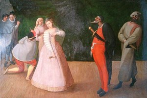 Die pants des Pantalone in der Commedia dell'arte.