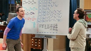 "Das Whiteboard in ""The Big Bang Theory""."