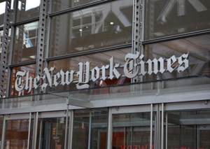 """Journalism that stands apart"": Die ""New York Times"" präsentiert ihren Report 2020."
