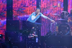Coldplay live bei den Brit Awards in London am 22. February.