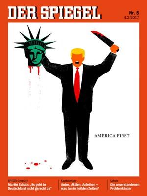 Von meinungsfreiheit gedeckt spiegel cover mit trump for Spiegel cover 2017