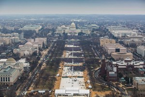 Halbleer: Die National Mall bei Donald Trumps Angelobung