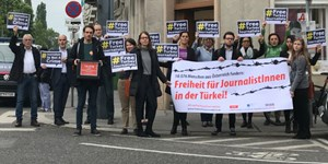 #FreeTurkeyJournalists: Prostestaktion am Mittwoch in Wien.