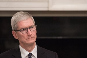 Apple-Chef Tim Cook: Kein großer Fan Donald Trump.