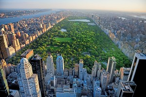 Der Central Park, fotografiert von Midtown Manhattan.