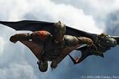 Hicks versucht, auch ohne Ohnezahn zu fliegen