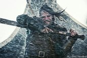 Die Wikinger kommen in einen furchtbaren Sturm