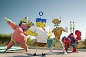 Spongebob begibt sich mit seinen Freunden an Land