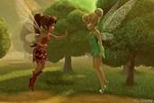 Emily versucht Tinkerbell davon zu überzeugen, das Tier zu retten