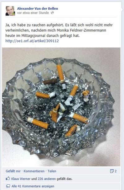 Die Geschichten jenen hat wer Rauchen aufgegeben