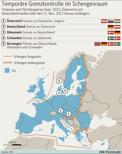 Österreich will Grenzkontrollen im Schengen-Raum verlängern