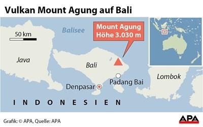 Höchste Alarmstufe nach Vulkan-Aktivität auf Bali