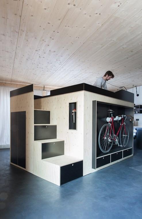 Weniger quadratmeter neue ideen f r wohnen auf kleinem for Wohnen und schlafen in einem raum ideen