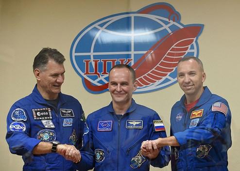 Sojus-Kapsel auf dem Weg zur ISS