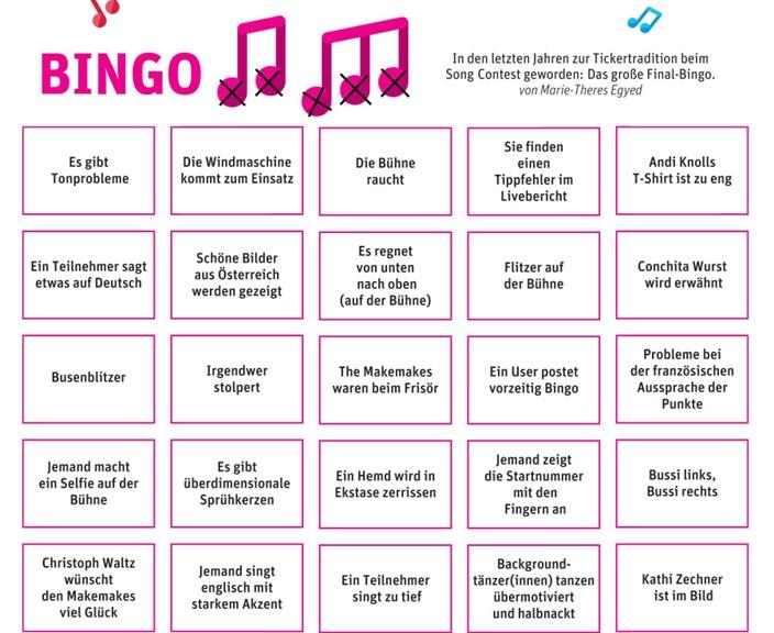 bingo zum song contest 2015 song contest 2015