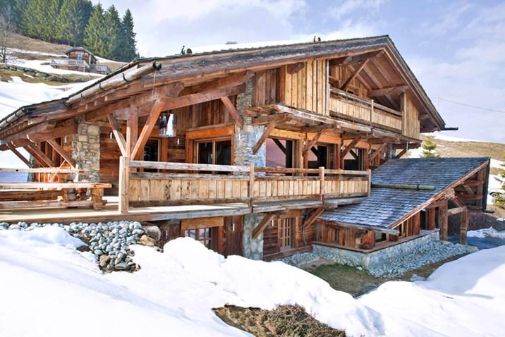 Luxus: Ski-Chalets, die man am besten als Gruppe bucht ...