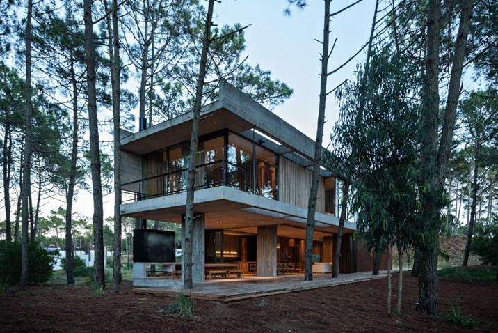 Argentinien ein betonhaus im wald architektur stadt - Att architekten ...