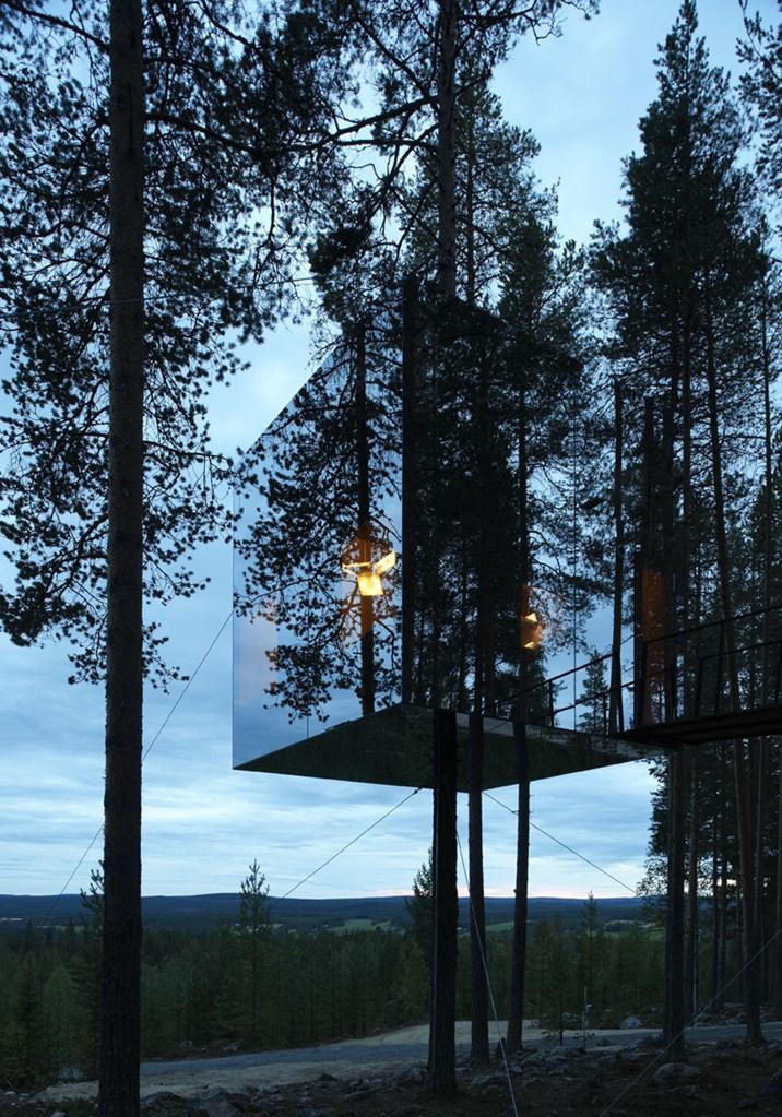 Spiegelhäuser: Wenn Die Architektur Das Auge Austrickst ... Glas Fassade Spiegelfassade Baumhaus