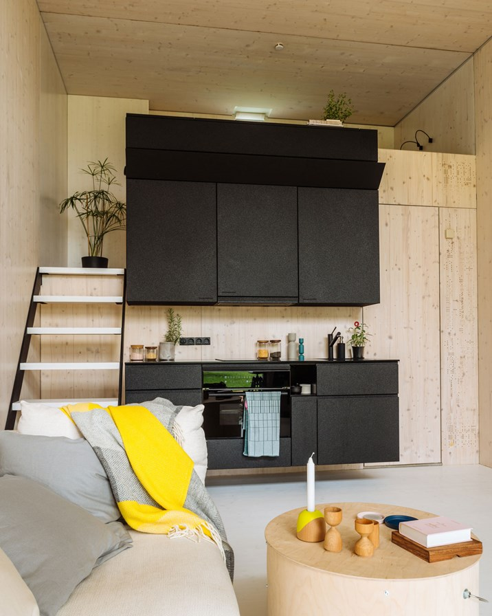 ein haus namens koda wohnen auf 26 quadratmetern architektur stadt. Black Bedroom Furniture Sets. Home Design Ideas