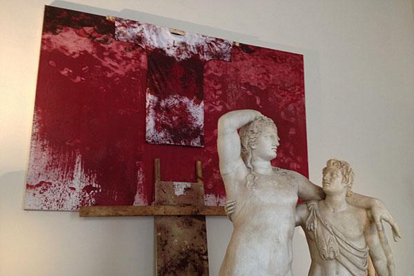 Art Humor Metall Skulptur Rot Und Schwarz Wohndeko Abstrakte Freistehend Holly Von Lentz