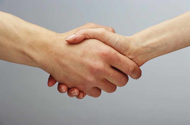 Nach dem Händedruck schnüffeln wir an den Fingern - Mensch