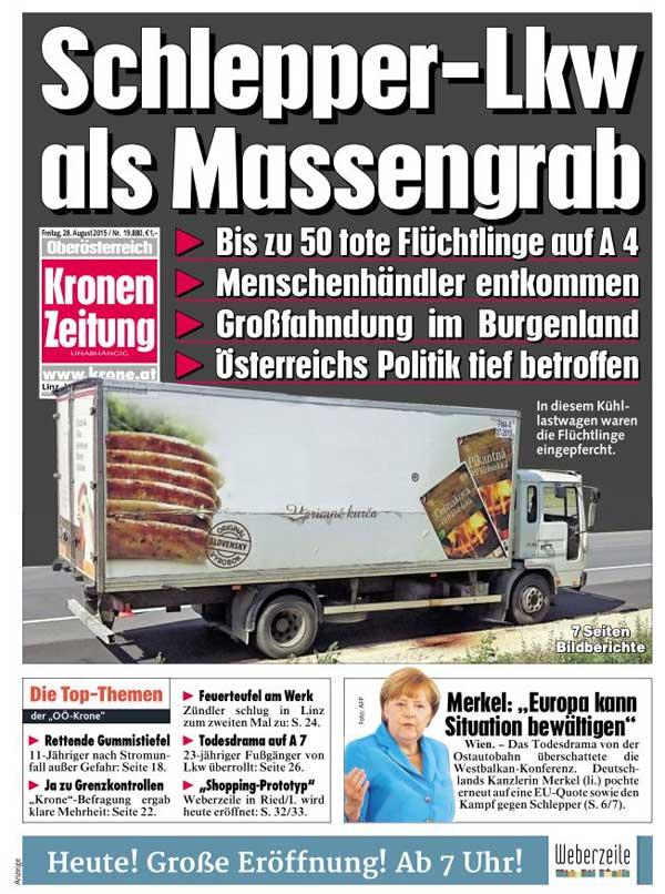 Flüchtlinge Krone Zeitung