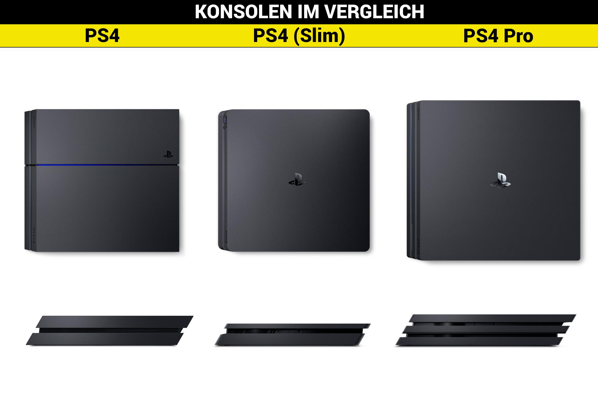 Unterschied Ps4 Slim Und Ps4 Pro