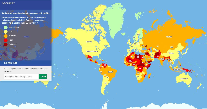 Travel Risk Map 2018: Diese Länder sollten Reisende meiden ...