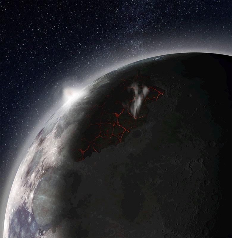 Auch der Mond hatte einst eine dichte Atmosphäre