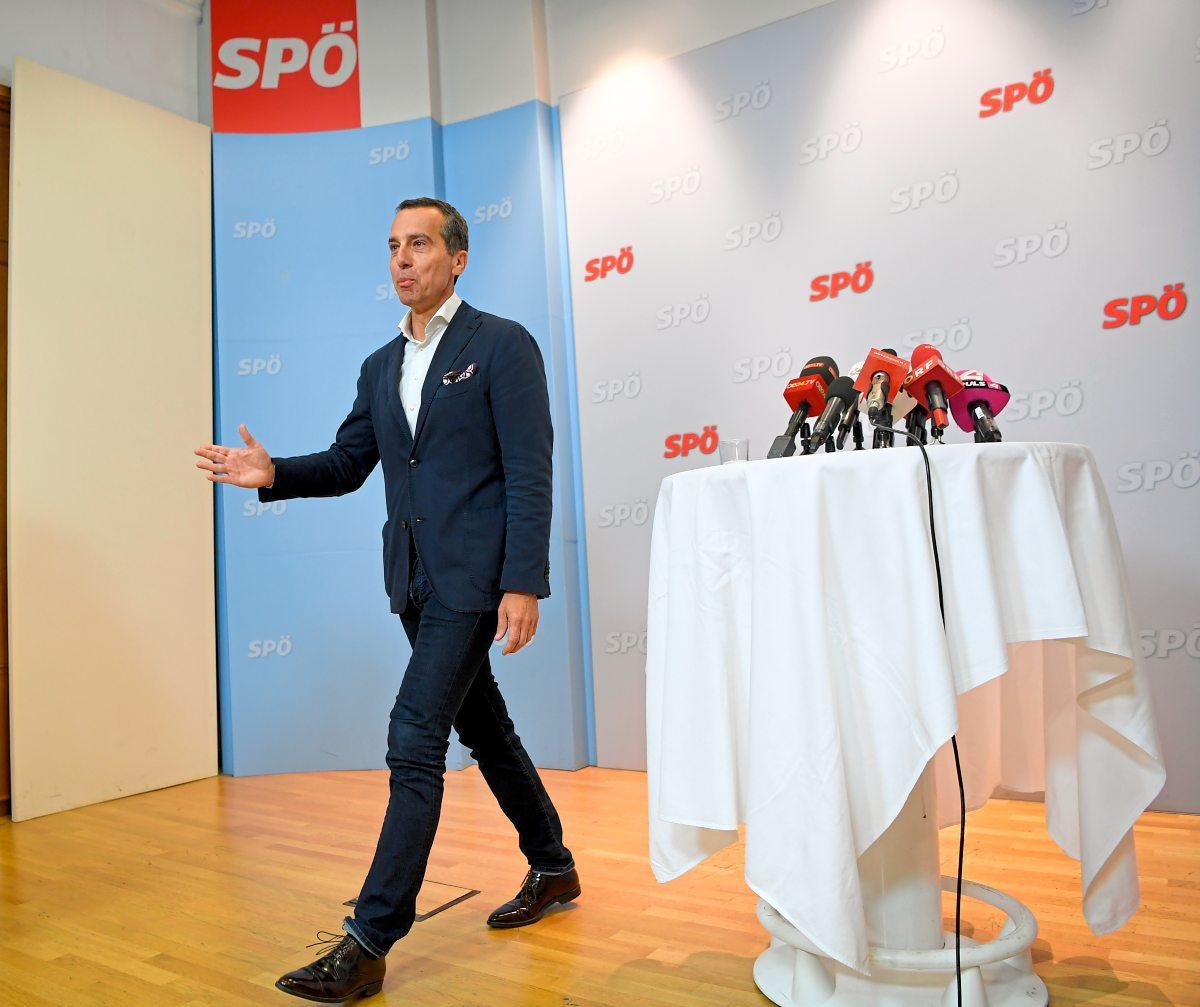 SPÖ-Chef Christian Kern will Spitzenkandidat bei EU-Wahl werden und kündigt Abgabe von Parteivorsitz an
