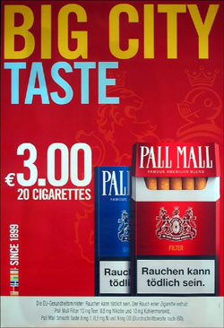 Sieger bei den City Lights im Februar: Pall Mall (British American Tobacco)