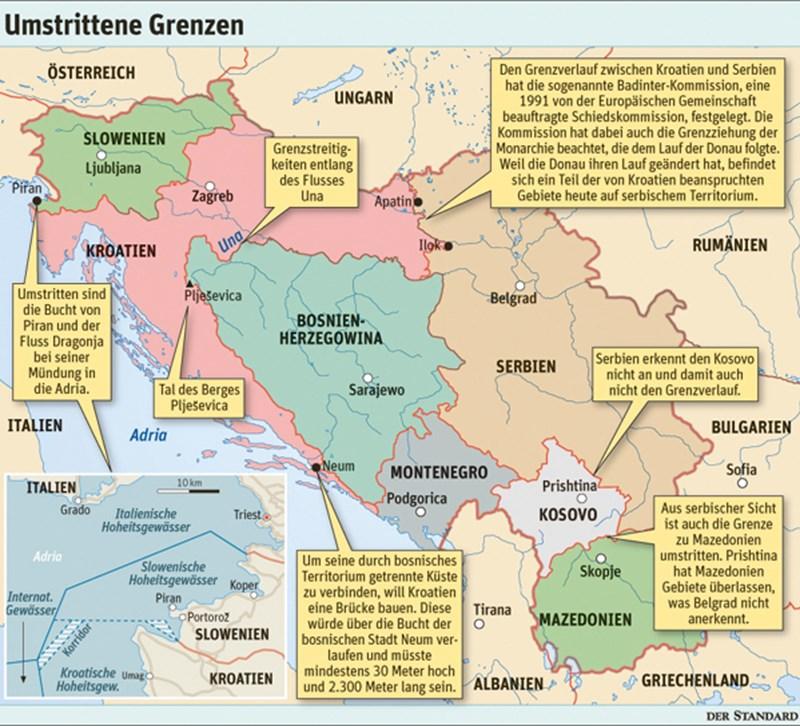 Ex Jugoslawien Karte.Es Wimmelt Von Ungelösten Grenzkonflikten Eu Erweiterung