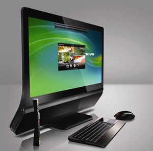 Lenovos All-in-one-PC mit Full HD-Auflösung.