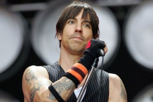 Anthony Kiedis of American rock band Red Hot Chili Peppers