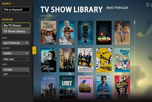 Das neue Interface der Boxee Beta-Version