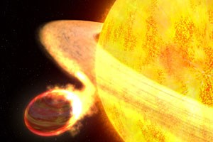 Illustration des Exoplaneten WASP-12b