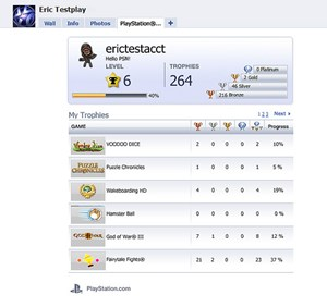 PSN-Integration auf Facebook
