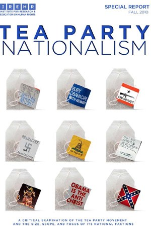 "Titelseite des Berichts ""Tea Party Nationalism""."