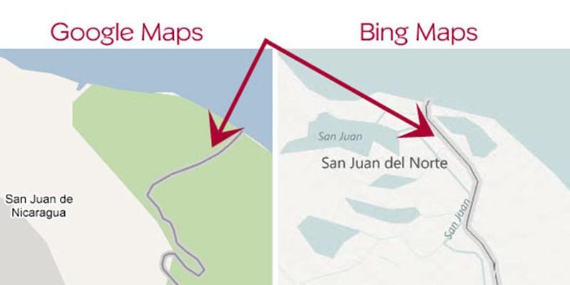 Google Maps-Fehler schürt Konflikt in Mittelamerika ...