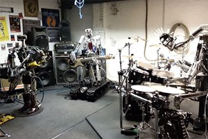 Compressorhead in Aktion