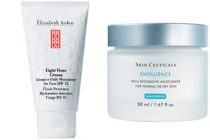 Elizabeth Arden Eight Hour Cream Intensive Daily (35 Euro), SkinCeuticals Emollience (53 Euro).